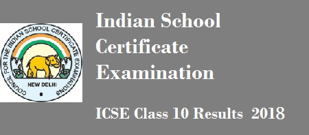 ICSE Class 10 Results 2018